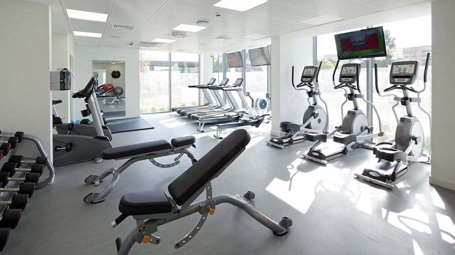 Fitness gym is available to use at GradPad Wood Lane Studios